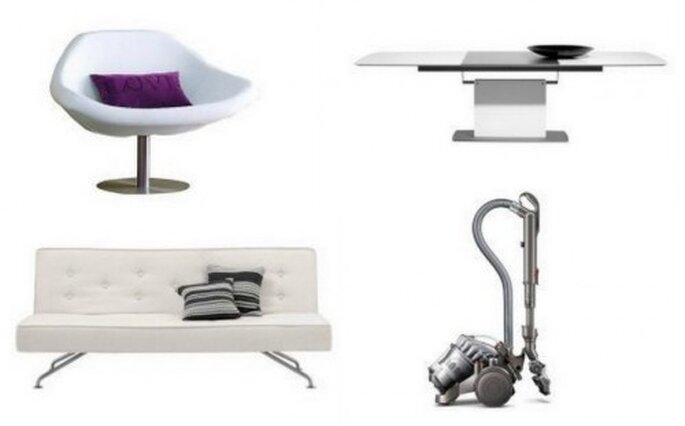Regalos para parejas caseras: silla, sofá y mesa de diseño, aspiradora sin bolsa