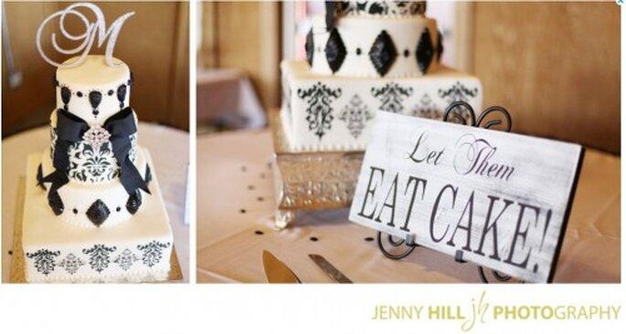 Dessert de mariage blanc et noir. Photo: www.etsy.com