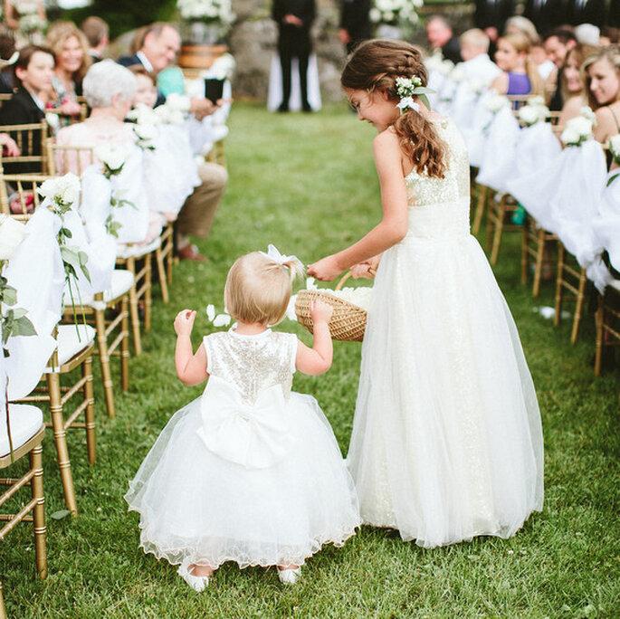 los pajes y las niñas de las flores cortejo nupcial bodas