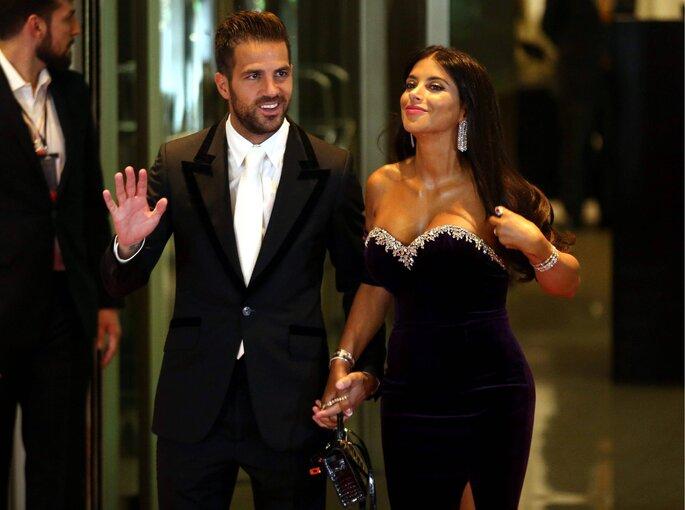 Cesc Fábregas e sua mulher