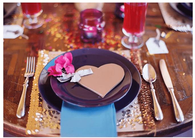 Una boda inspirada en San Valentín con muchos corazones - Foto Jill Thomas