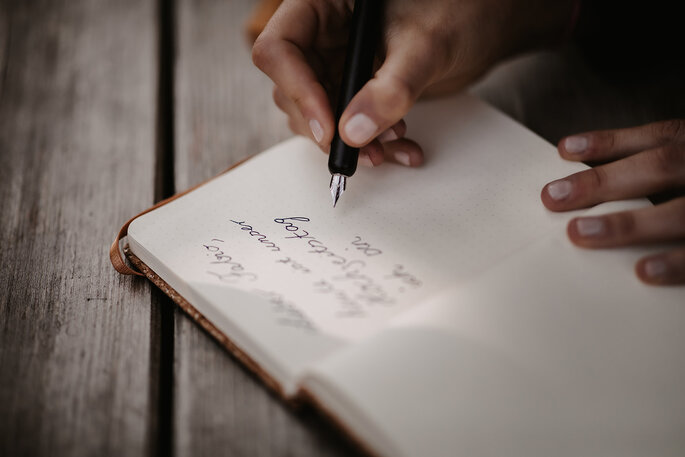 Ehegelübde aufschreiben