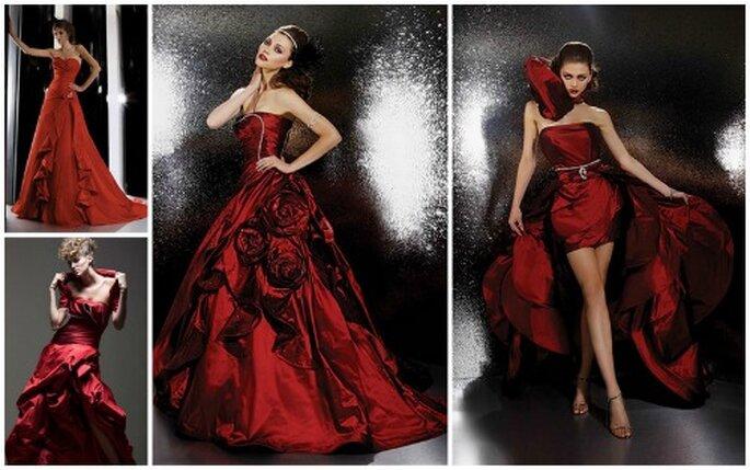 Il rosso è uno dei colori prediletti da moltissime griffe...sei pronta ad osare? Abiti Gritti Spose