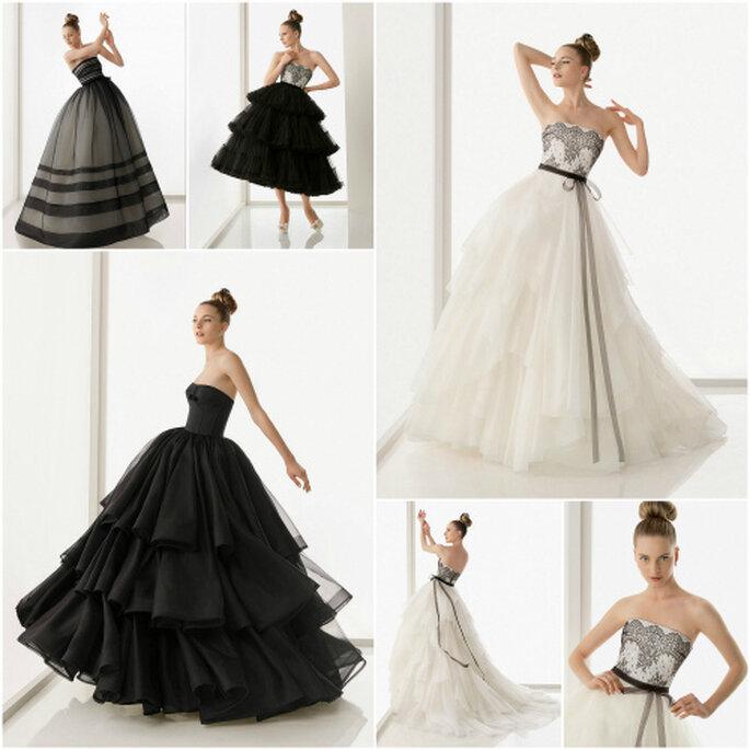 Vestidos de novia negros, de Rosa Clará 2011
