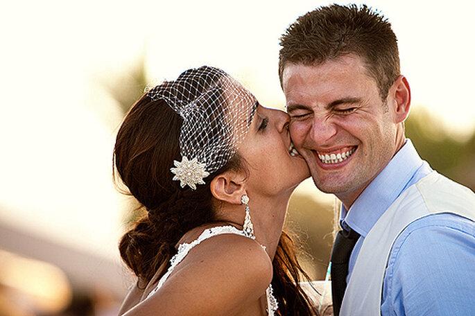 Raquel y Alberto celebraron una boda 'de mar' en La Manga. Foto: Joaquín Tocornal