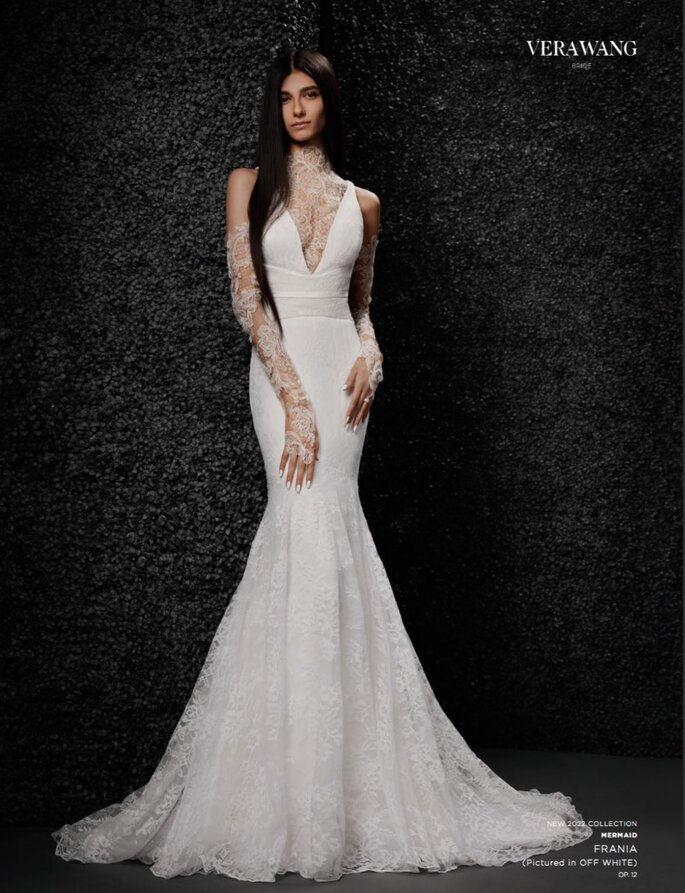 Vera Wang - Robe de mariée sirène et décolleté illusion
