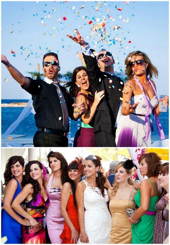 Los amigos son una parte fundamental durante la boda. Foto: Un momento íntimo de la pareja durante la celebración. Foto: Joaquín Tocornal