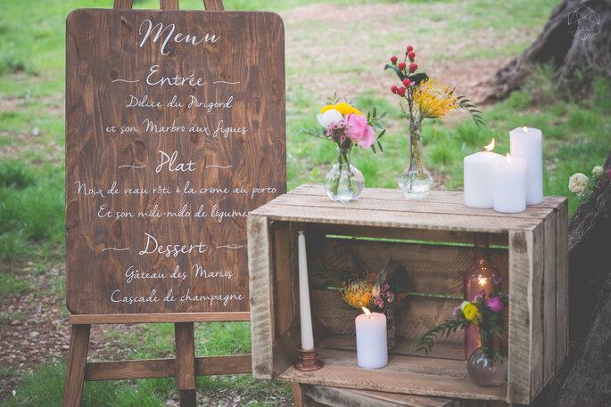Photo : Ella Photographie .Wedding planner : Mademoiselle Events