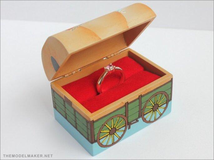 Estuche para anillo de compromiso. Foto de TheModelMaker.net