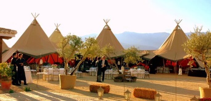 Tipis, carpas diferentes para tu boda