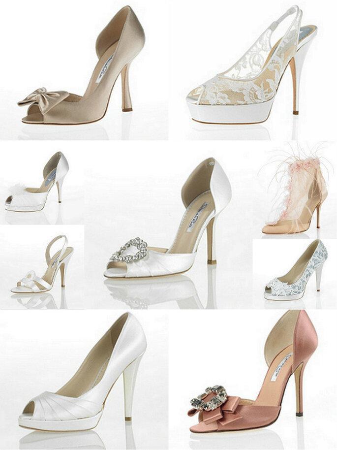 Zapatos para novia de Oscar de la Renta 2012