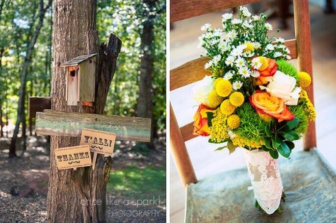 Pour votre mariage, optez pour une décoration vintage - Photo : Once like a Spark