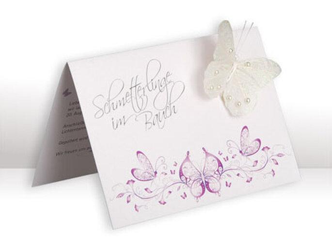 EInladungskarte 'Schmetterling flieder' von cloud9design