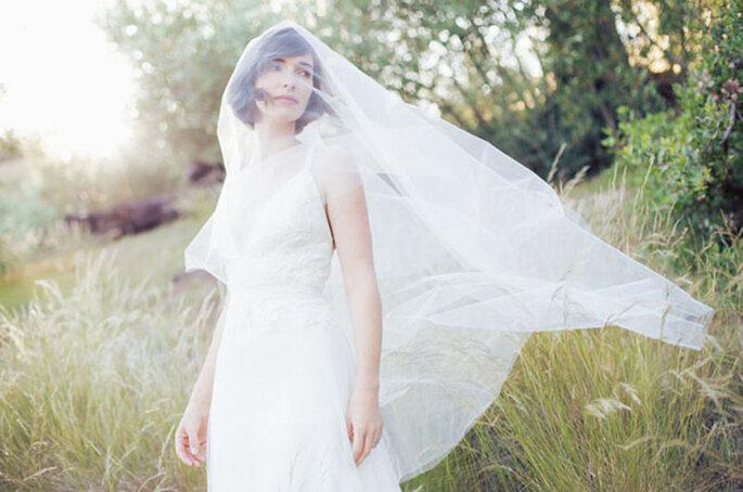 Acconciature sposa con velo