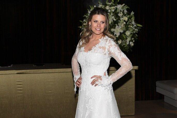 Daiana con su modelo tradicional e elegante. Foto: Reprodução