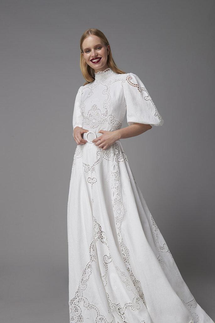 Robe de mariée Cassiopeia par Costarellos.