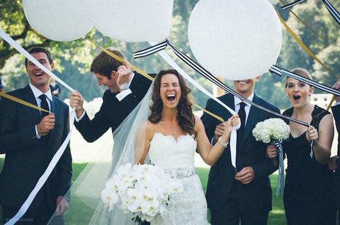 Una boda elegante a rayas - Foto Ben Pigao