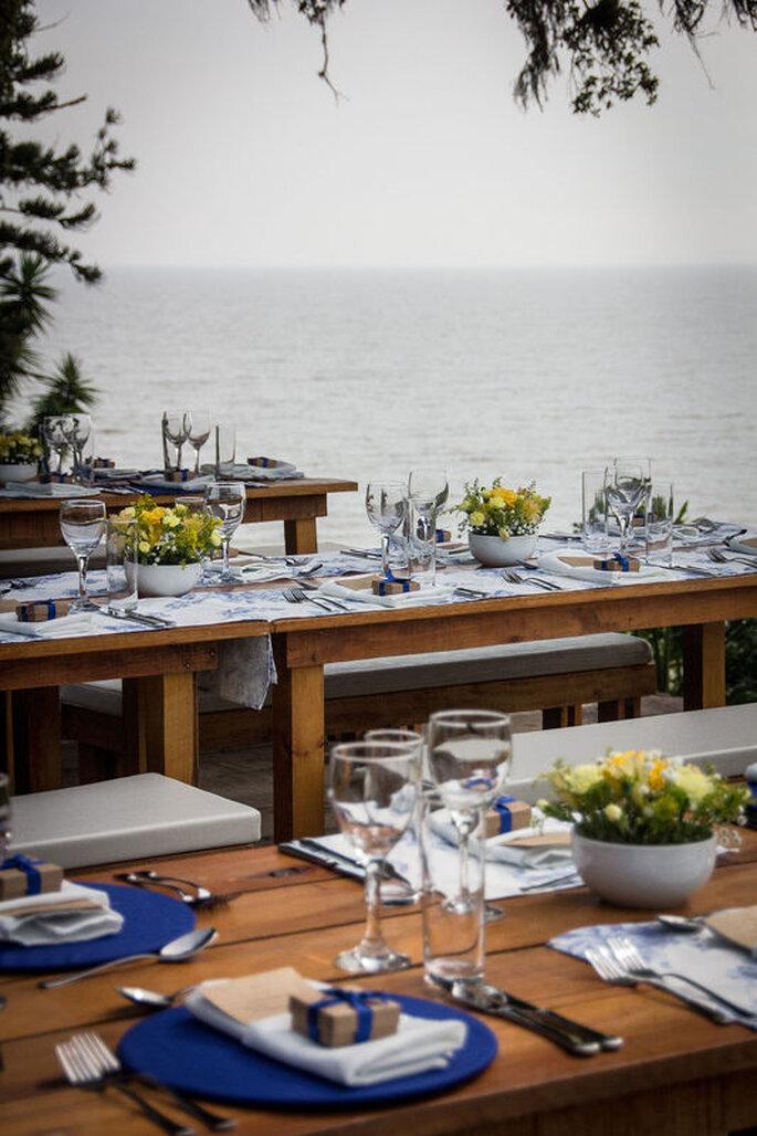 Almoço de casamento beira lago
