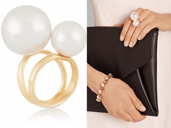 Accesorios en color dorado para una invitada fashionista - Kenneth Jay Lane en Net a Porter