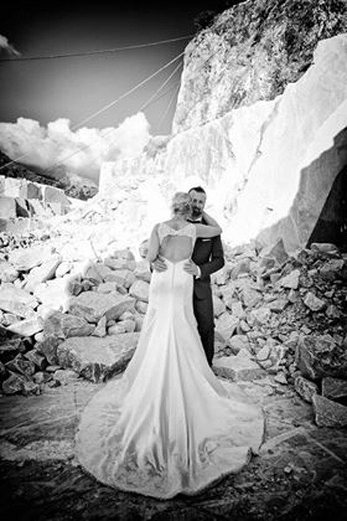 To get her Spose - scatto di coppia in bianco e nero
