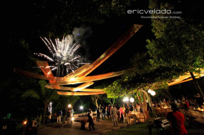 Feuerwerk zur Hochzeit. Foto: Eric Velado