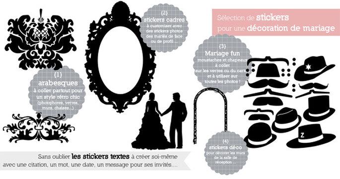 Décoration de mariage avec des stickers