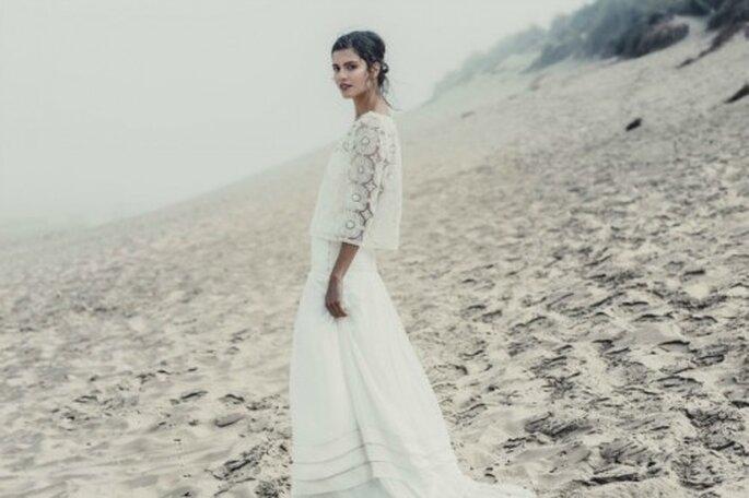Samedi 23 novembre au Printemps Haussmann : défilé exclusif de robes de mariée - Modèle : Laure de Sagazan