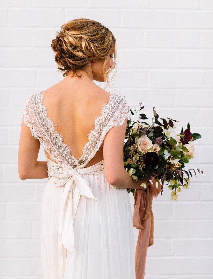 Peinados de novia recogidos con ondas