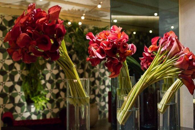 Vasos de flores para casamento
