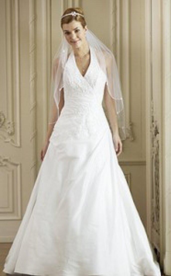 Pure White von Lilly 2010 - Langes Kleid, V-Ausschnitt
