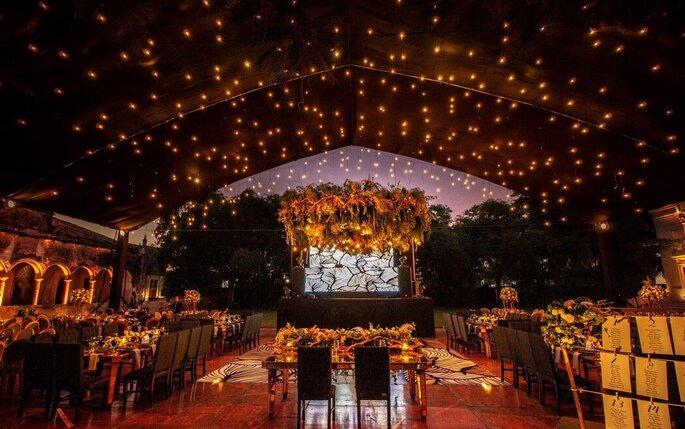 Iluminación para la boda