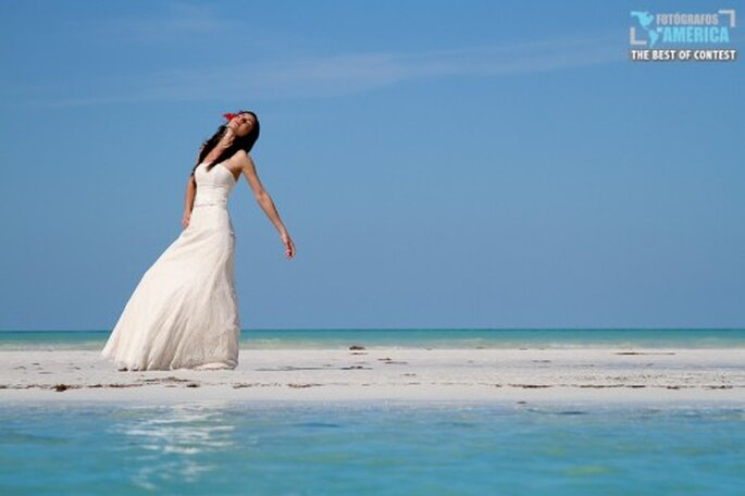Poses de fotos de novia.Foto de Ángel Cantú.