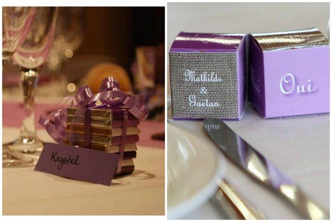 Sie können die Gastgeschenke für Ihre Hochzeit individuell gestalten! Foto: Chocolat de Mariage