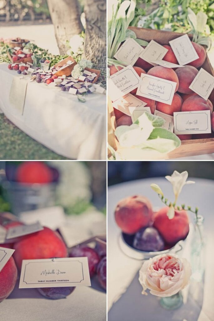 Fruits in your wedding decor - Photo: One Love Photography