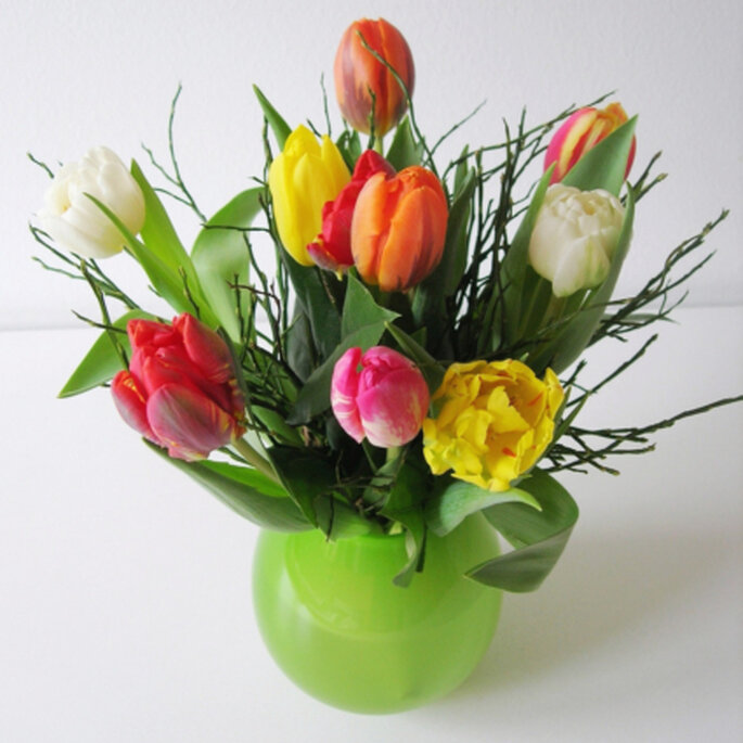 Tulpen für die Hochzeitsdekoration und für den Brautstrauss. Foto: Brigit Winter / pixelio.de