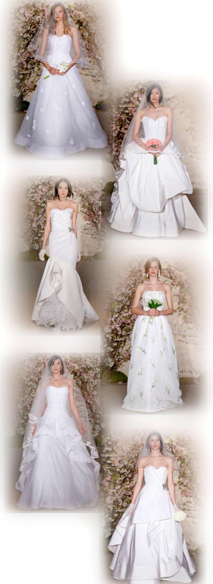 Trägerlose Hochzeitskleider aus Óscar de la Rentas neuer Kollektion