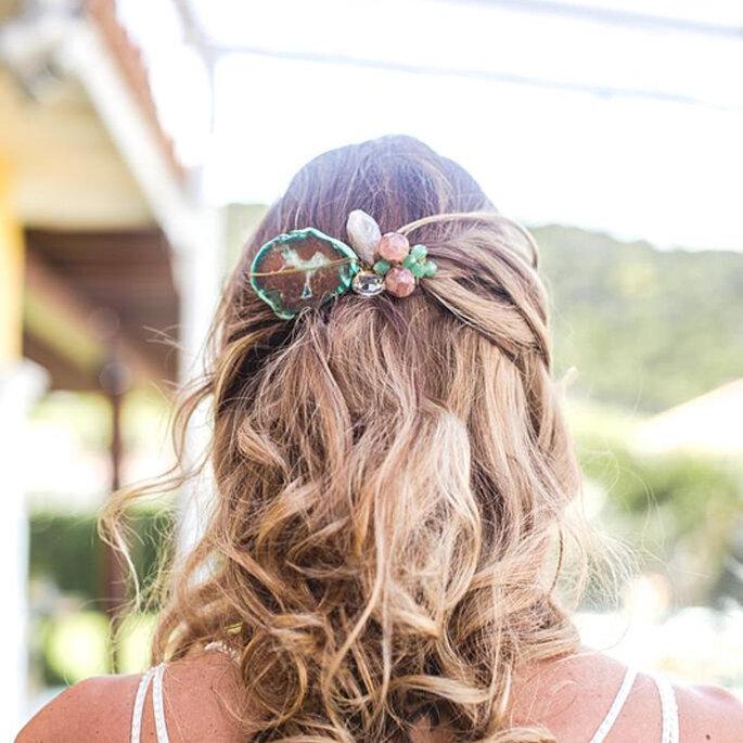 tiara noiva com pedras