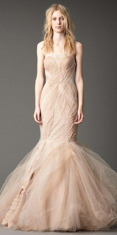 Vestido novia otoñal. Foto del sitio de Vera Wang.