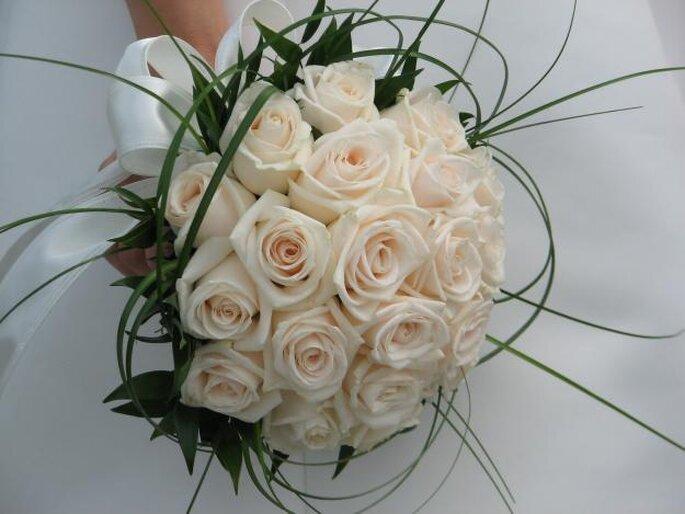 Bello bouquet de rosas, un buen consejo para elegir las flores de la boda