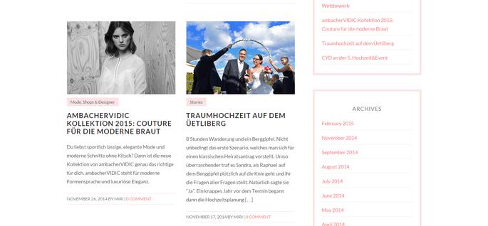 Ausschnitt: Homepage