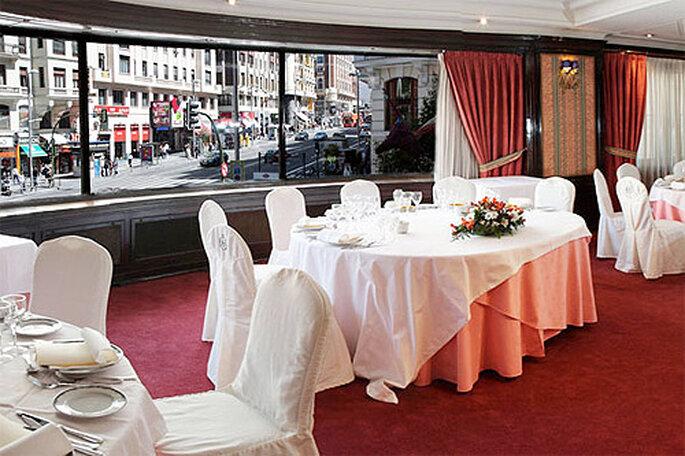 El hotel TRYP de Gran Vía es ideal para celebrar una boda de invierno en Madrid con espectaculares vistas. Foto: TRYP