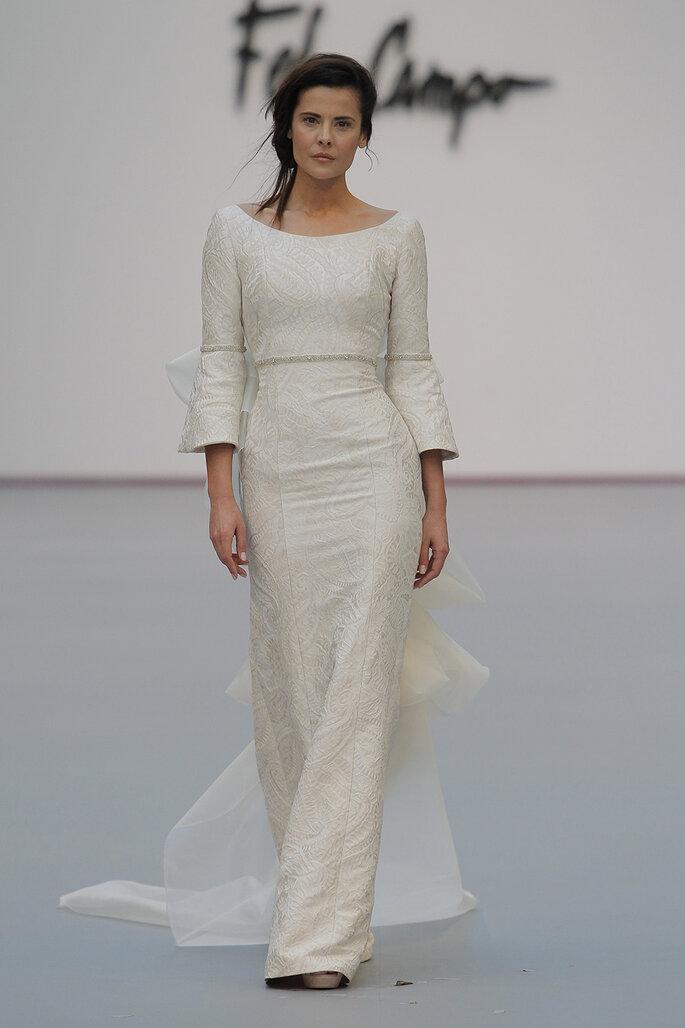 Kleid von Fely Campo. Credits: Madrid Bridal Week