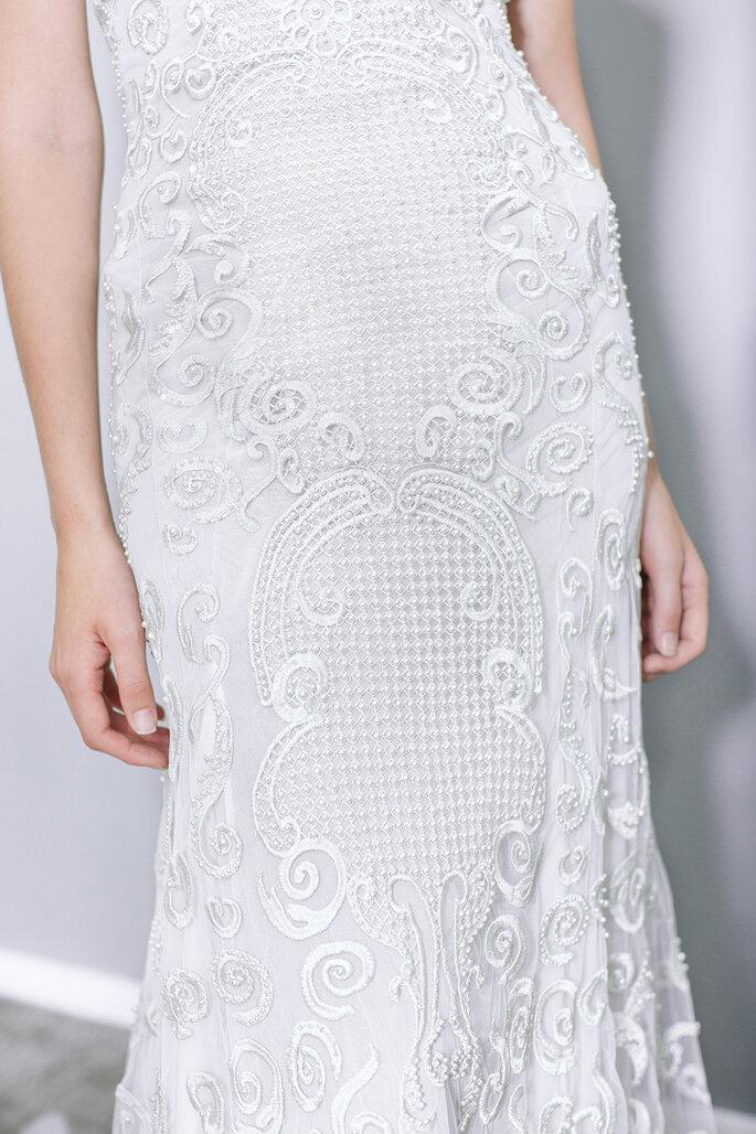 Detalhe do bordado vestido de noiva