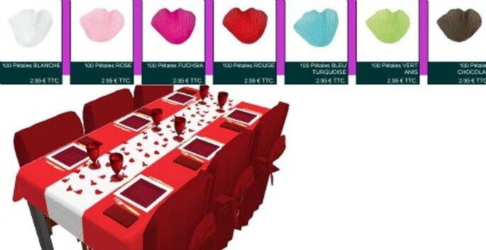 Table rouge passion - Composezvotretable.com