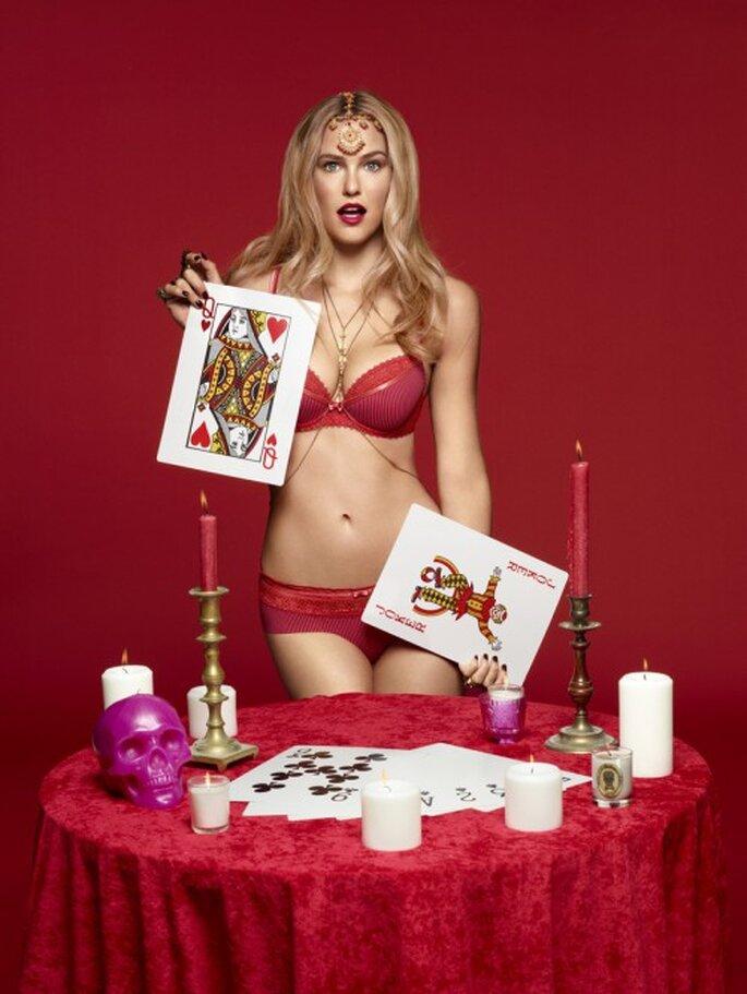 Lencería de novia color rojo para atraer el amor en año nuevo - Foto Passionata
