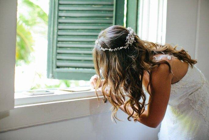 penteado noiva solto despojado