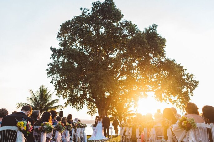 foto cerimônia ao ar livre