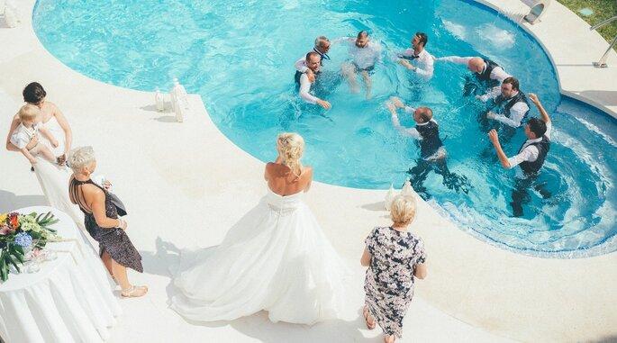 piscina en boda