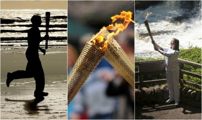 El beso de la llama olímpica - Fotos: London 2012