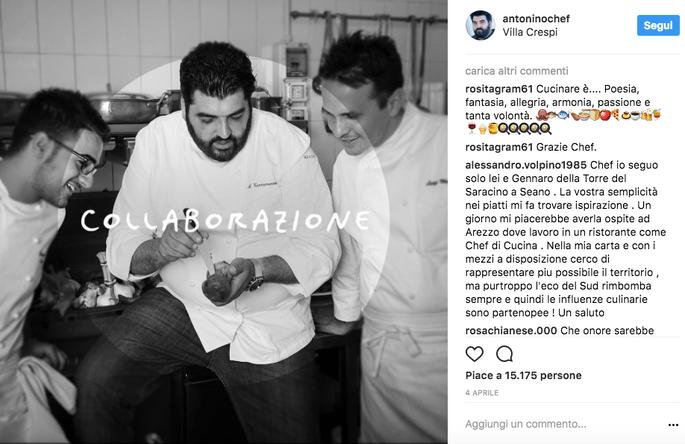 Foto via Instagram @antoninochef